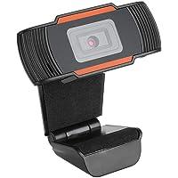 Nikou Cámara Web - Cámara Web USB HD de 3MP Cámara de computadora Web Video Digital con micrófono Incorporado(黑色 + 橙色)