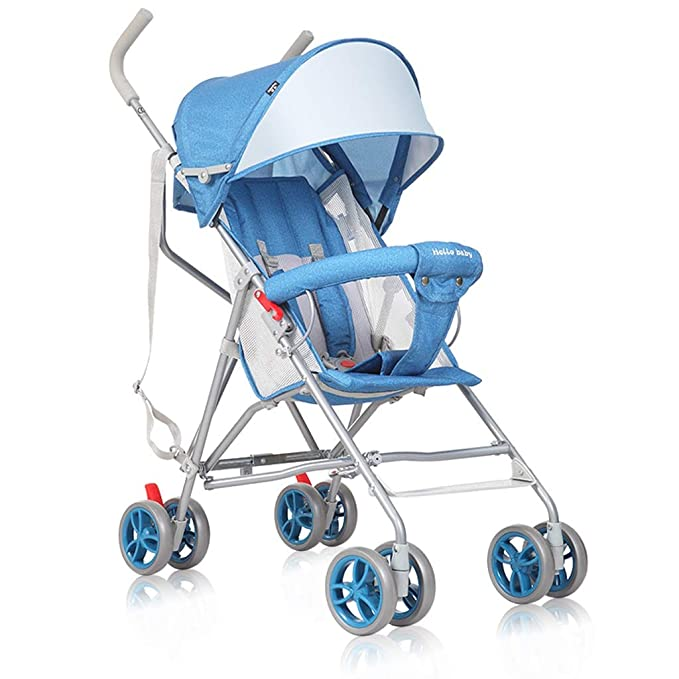 FXZ Cochecitos para niños pequeños Peso Ligero Plegable para bebés Carro Simple Cómodo Sistema de Viaje Paraguas (Color : Lake Blue): Amazon.es: Hogar