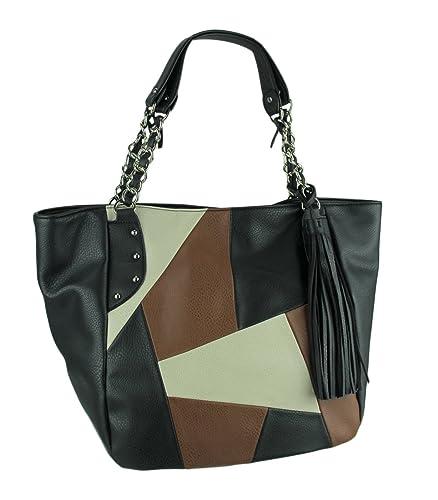 6821a8374f CARLOS by Carlos Santana Women's Kloe Chain Shopper Black Multi Handbag:  Handbags: Amazon.com