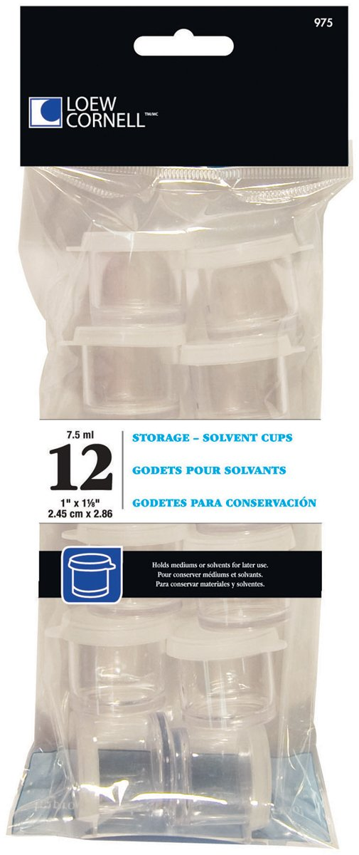 3 Pack 1 Inch Storage Cups 12 Count Loew-Cornell 975