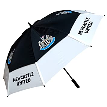 Grande doble dosel paraguas con fútbol Club Logo, Newcastle Utd Football Club
