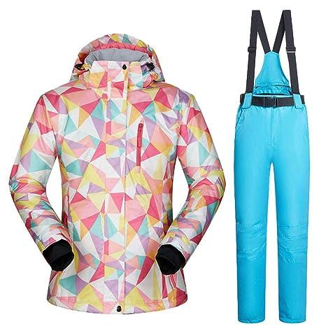 Chaquetas y Pantalones de Esquiar de Las Mujeres Ropa de la Snowboard Trajes de esquí a