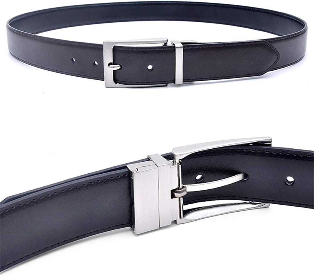 Men Reversible Buckle Belts Mens Leather Handmade Belt Fashion Belt