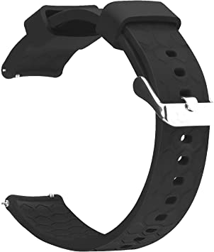 RuenTech Compatible for Fossil Gen 4 Venture HR 18mm Silicone Replacement Sport Straps Soft Wristbands for Fossil Q Venture Gen 4 and Gen 3 Smartwatch
