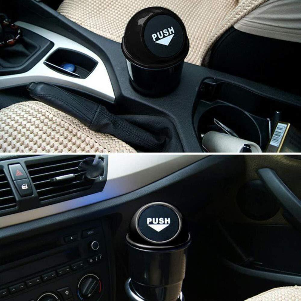 blu Cestino bidone spazzatura,Borsa Mini immondizia pattumiera rifiuti Automotive Storage,Contenitore per rifiuti Interni auto//Ufficio//Casa JUNSHUO Auto Automatico Cestino,Cestino plastica