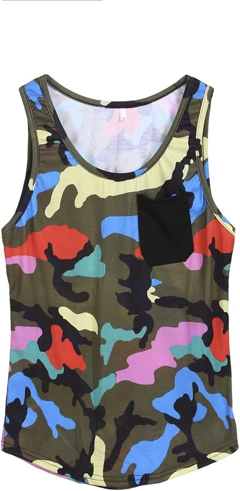 Annstar Men Sleeveless Muscle Vest Camouflage Bodybuilding Workout Tank Top Sport Shirts Fitness Exercise Running Outfit Tops M-3XL