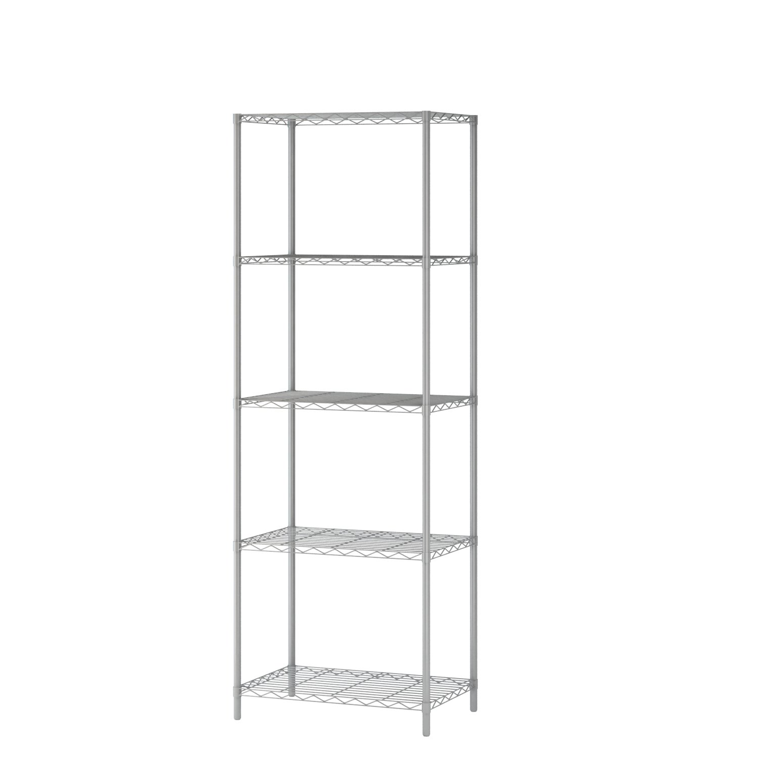 MULSH 5-Tier Wire Shelving Metal Wire Shelf Storage Rack Durable Organizer Unit Perfect for Kitchen Garage Pantry Organization in Grey,21'Wx14 Dx62 H