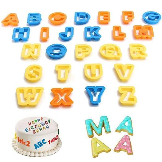 auykoop letra del alfabeto número molde para galletas DIY ...