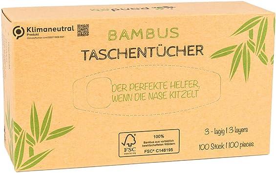 Pañuelos de bolsillo Pandoo 100% bambú, secos y sin madera, en ...