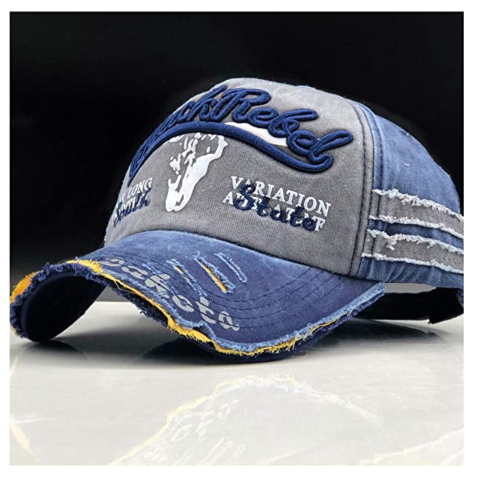 Men Baseball Caps Women Hats Fashion Vintage Gorras Letter Cotton Cap (Color : Blue Gray