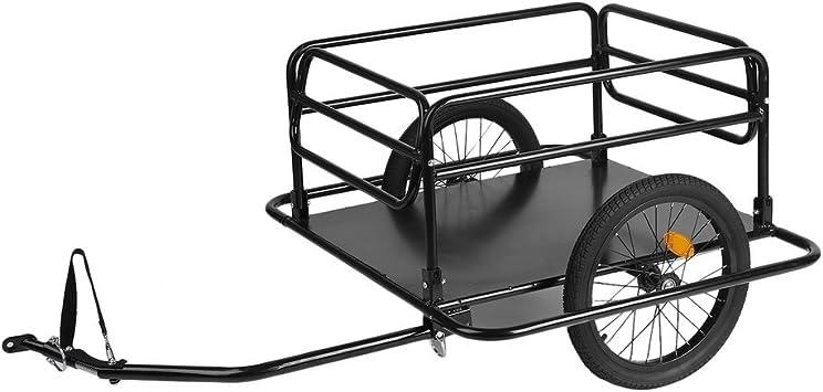 Belovedkai Bicicleta Plegable Remolque Carga utilitario Equipaje ...