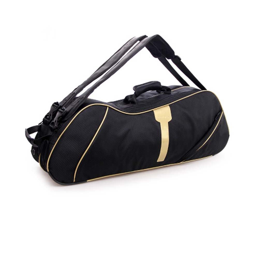 2肩ストラップ防水、防塵ラケットバッグ6ラケットバッグ、ゴールド B06XSYL153