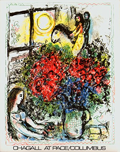 Chagall Signed Lithograph (Rare Posters Prints, Marc Chagall-La Chevauchee 1979 Lithograph)