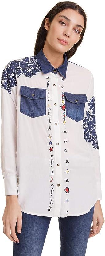 Desigual Shirt Frida Camisa para Mujer: Amazon.es: Ropa y accesorios