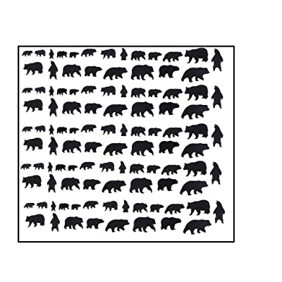 Bear Collection (Bear Nail Stickers bLACK): Beauty [5Bkhe1202631]