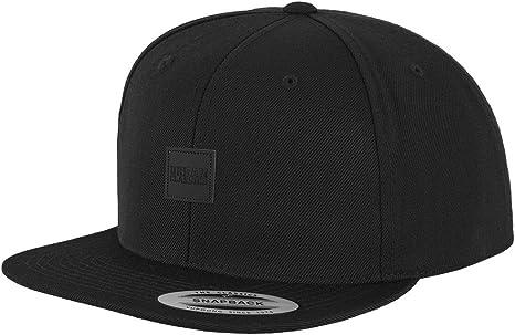 Urban Classics Leatherpatch Snapback Gorra, Negro (blk/blk), Talla ...