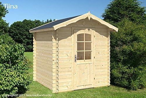 Jardín Casa Tina a 28 bloque madera casa 220 x 220 cm – 28 mm ...