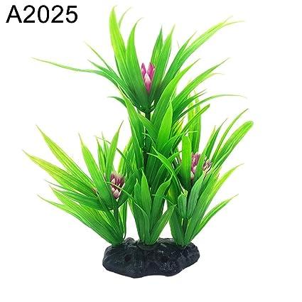 Originaltree Figura decorativa de acuario artificial para acuario, acuario o pecera, diseño de hierbas