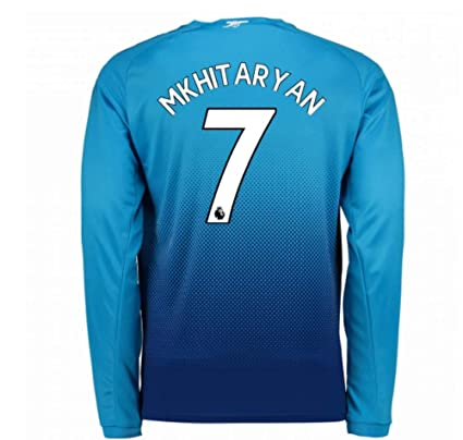 a4cf939a0 Image Unavailable. Image not available for. Color  2017-2018 Arsenal Away  Long Sleeve Football Soccer T-Shirt Jersey (Henrikh Mkhitaryan