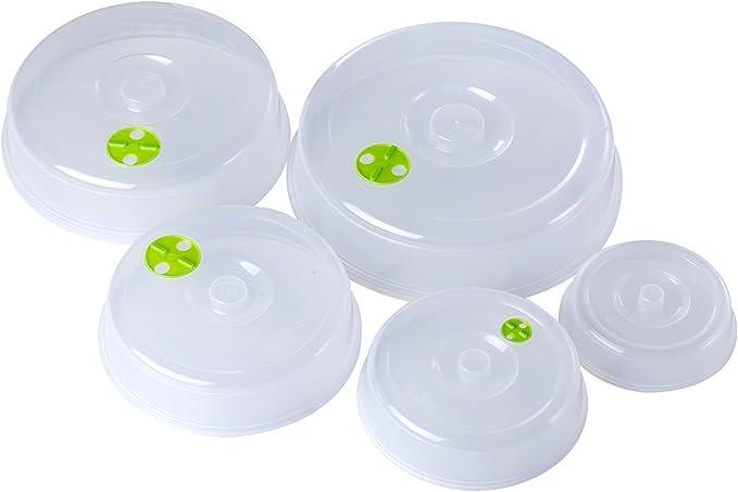 Bekith 5 unidades para plato de microondas Covers – 5 Tamaños ...
