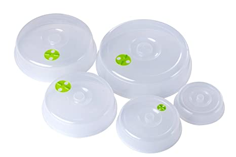 Bekith 5 unidades para plato de microondas Covers – 5 Tamaños – Lavavajillas.