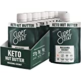 SuperFat Nut Butter Keto Snacks - Macadamia Almond Nut Butter Fat Bomb Paleo Snack For Energy, Metabolism & Brain Function, V