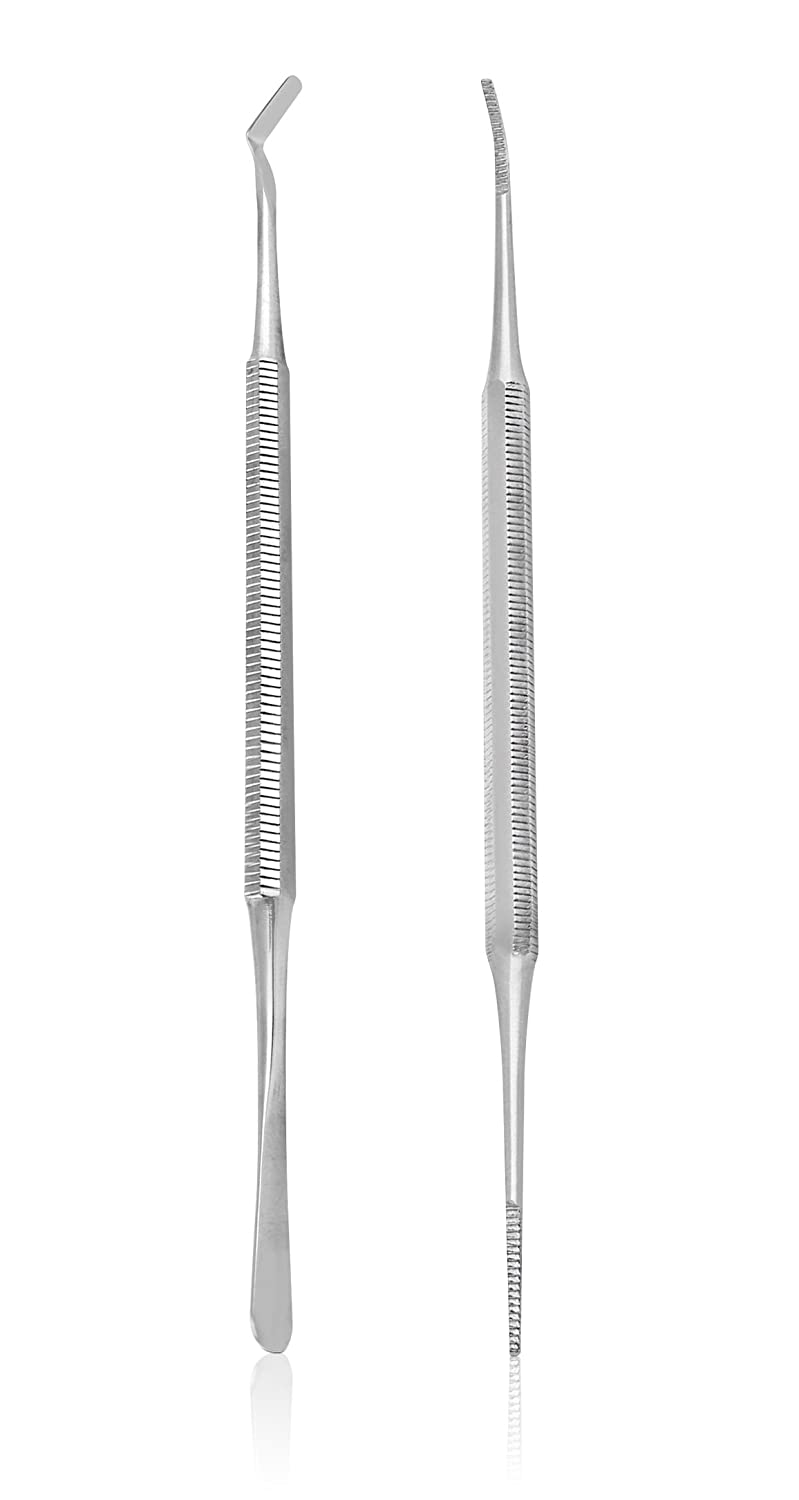 BlueOrchids Ingrown Toenail File and Lifter Set. Premium Grade Stainless Steel. ubsc