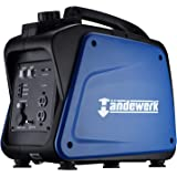 Handwerk 1850 Watt Super Quiet Portable Inverter Generator Gas Powered CARB Compliant with Eco-Mode and 120V AC Outlet USB Ports 12V DC Output