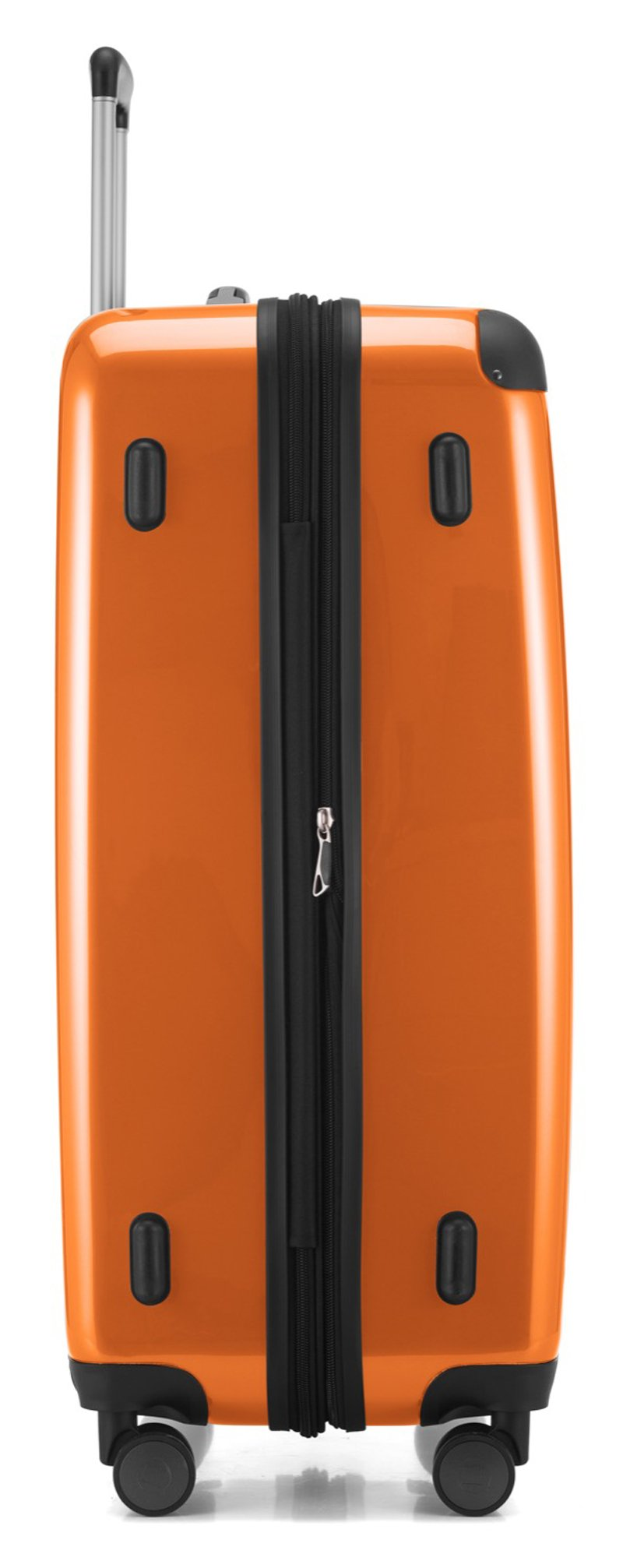 "HAUPTSTADTKOFFER Luggages Sets Glossy Suitcase Sets Hardside Spinner Trolley Expandable (20"", 24"" & 28"") TSA Orange"
