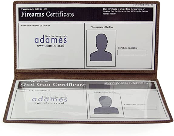New Real Leather Shotgun Certificate Holder or Firearms Licence Wallet  code 26