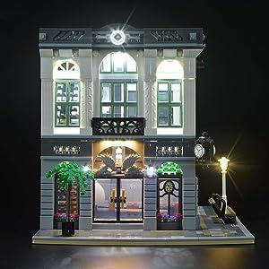 LIGHTAILING Light Set for (Creator Expert Brick Bank) Building Blocks Model - Led Light kit Compatible with Lego 10251(NOT Included The Model)