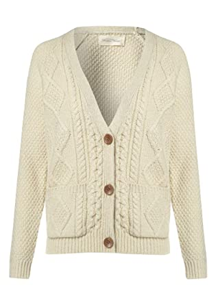 98da8182a9 American Vintage - Big Sky Country Cable Knit Cardigan - Sand   Amazon.co.uk  Clothing