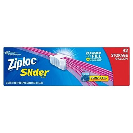 Ziploc Slider bolsas de almacenamiento, L tamaño: Amazon.es ...