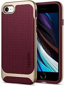 Spigen Neo Hybrid Designed for iPhone SE 2020 Case/Designed for iPhone 8 Case (2017) / Designed for iPhone 7 Case (2016) - Burgundy