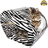 ***FLASH SALE*** Cardboard Cat Houses For Indoor & Outdoor Cats -The Kitty Camper Is The Perfect Play House, Cave, Igloo, Condo or Pet Bed - Just Add Toys a Blanket & Feel Good About Leaving Your Kitten & Pets at Home- FREE EBook - Money Guarantee -ZEBRA