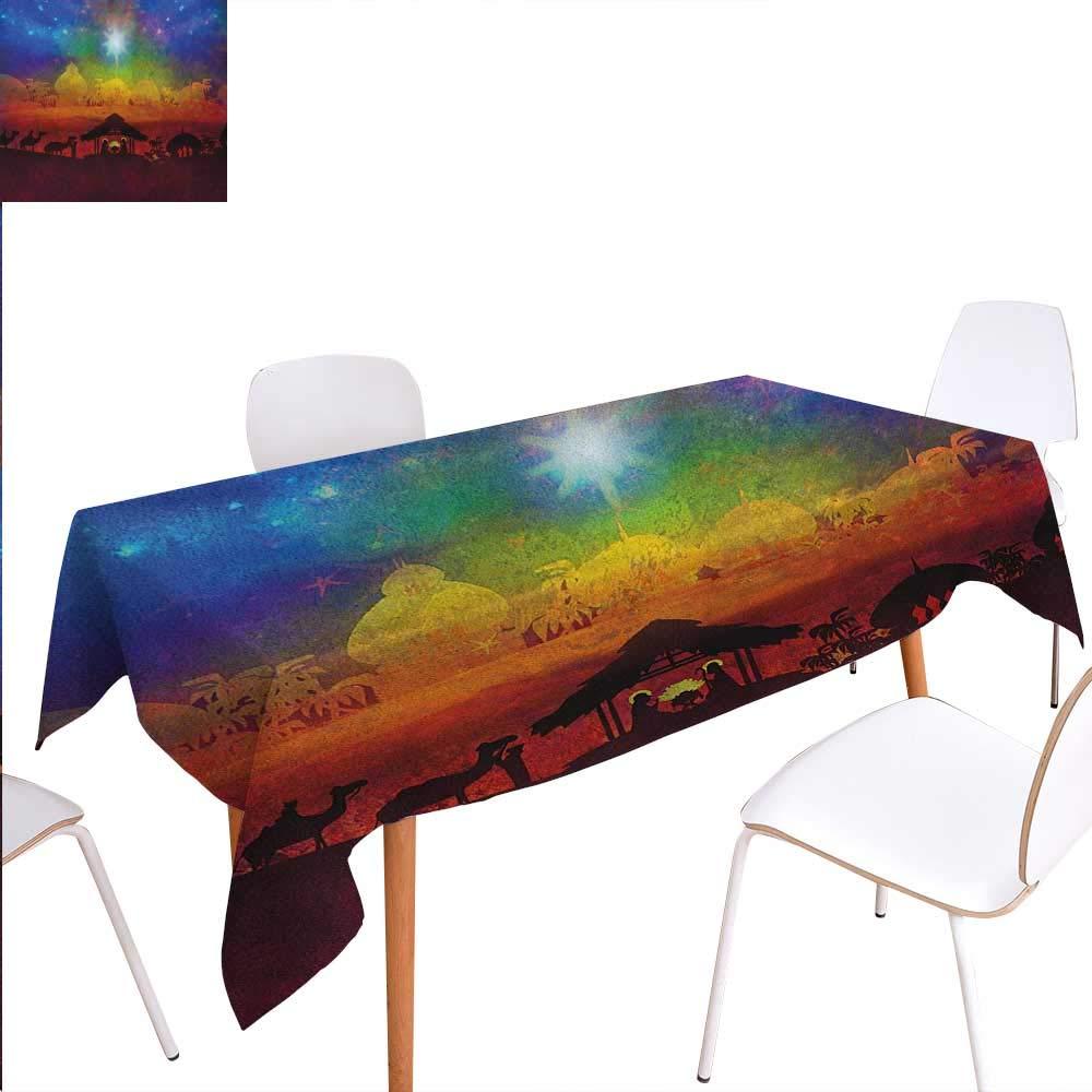 Warm Family 抽象模様テーブルクロス 垂直にアラインの背景 円形モチーフ モダンイラスト 防塵 長方形 テーブルクロス ほこり対策 ルビー トープ W60