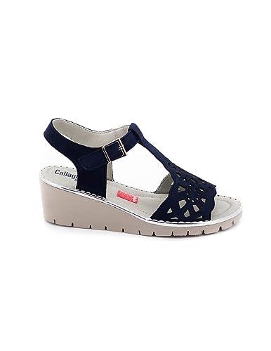 CallagHan 11108 Bleu - Chaussures Sandale Femme