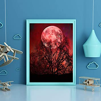 Diamond Painting Full Drill 5D DIY Embroidery Stitch Kits Home Wall Decor Moon