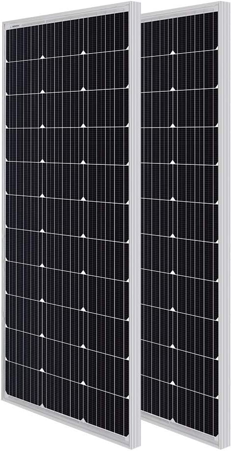 Renogy 100W 12V Solar Panel w// Z Bracket Mouting 100W 12V Off Grid PV Power