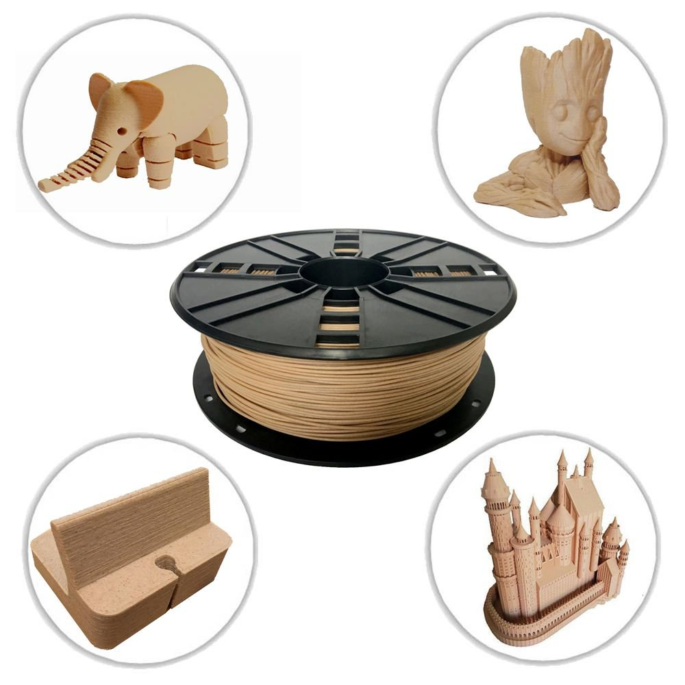 novamaker madera 3d impresora filamento - madera 1 kg (2.2lb ...