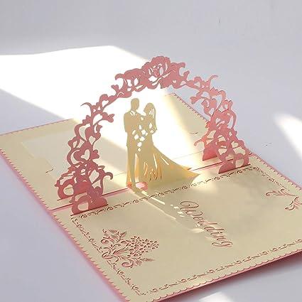 amazon com paper spiritz pop up wedding cards anniversary 3d pop