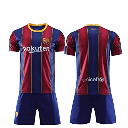 Barcelona Home Kit Jersey With Shorts 2020 2021 Amazon In Sports Fitness Outdoors