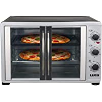 Luby Extra Large 55L toaster oven, 18 Slices,14'' pizza,20lb Turkey, Silver,Stainless Steel