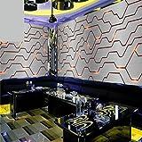 Lwcx 3D Metal Tech Theme Wallpaper G 400X280CM