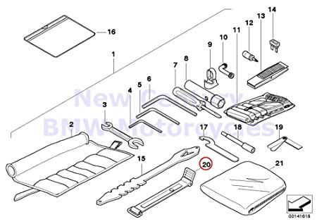 Bmw Genuine Motorcycle Battery Tray Car Tool Tension Strap R1200c