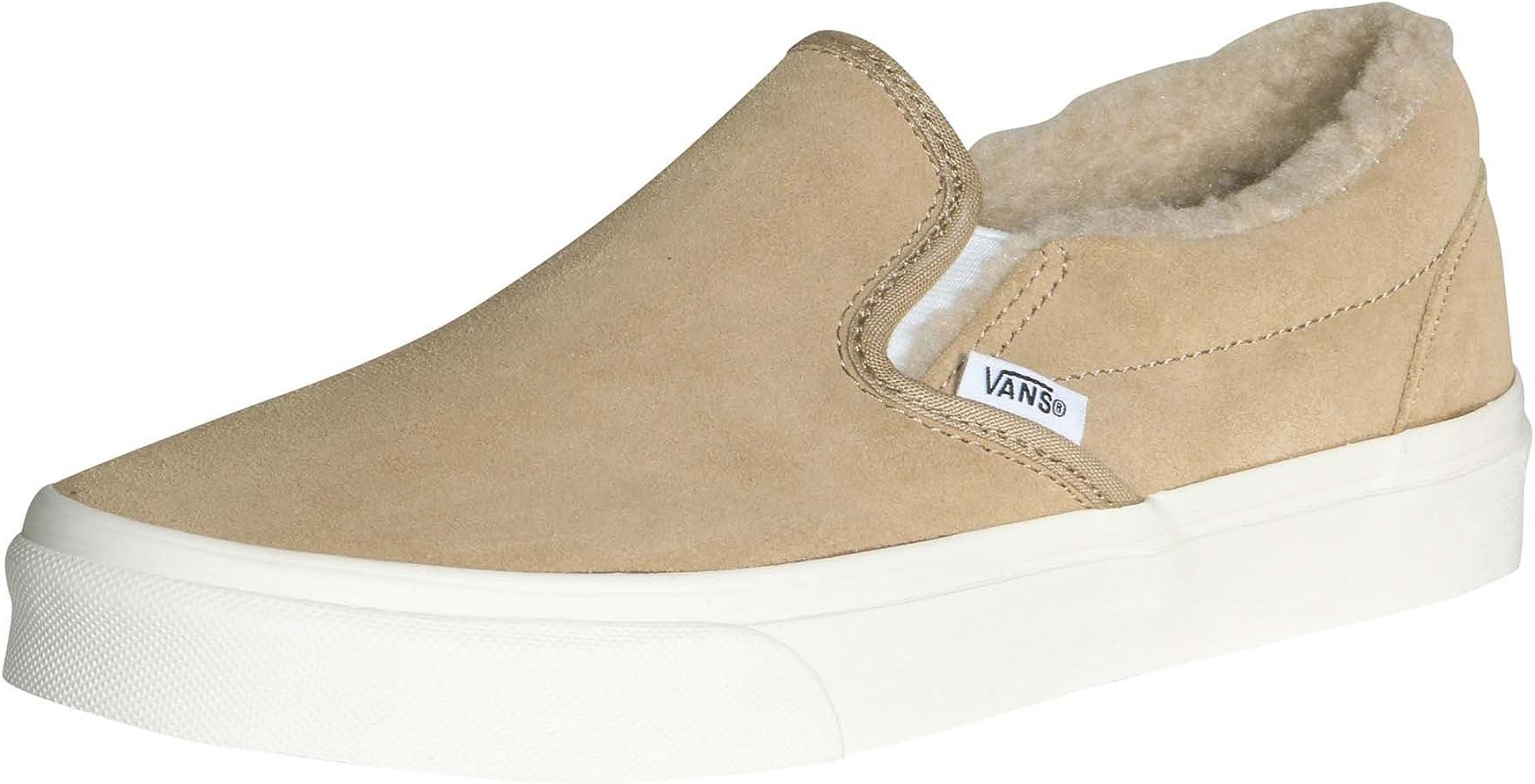 Vans Classic Slip On Suede/Fleece Khaki