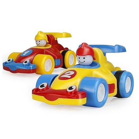 OneCreation - Juego de 2 juguetes para coches de carreras y ...