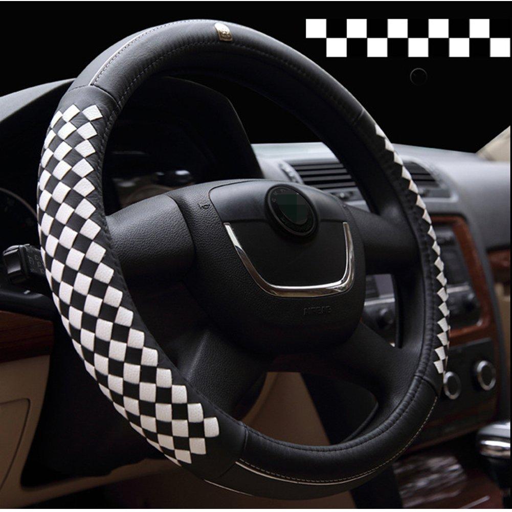 v/éhicules utilitaires l/égers et camions antid/érapant et sans odeur pour voitures GOGOLO Couvre-volant Couvre Volant Voiture Auto Universel Cuir 37-38cm