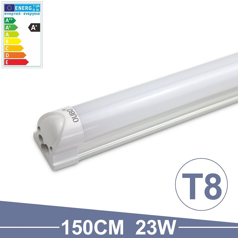 OUBO LED Leuchtstoffrö hre komplett 60cm T8 Tube Rö hrenlampe Leuchtstofflampe Warmweiß
