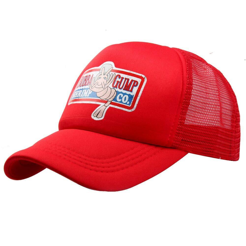wondeful Adjustable Bubba Gump Baseball Cap hat Forrest Gump Mesh Cap Red